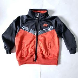 12M NIKE Track Jacket Sweater Gray & Orange
